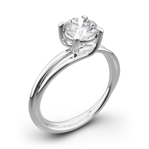 Danhov ZE100 Eleganza Braided Solitaire Engagement Ring