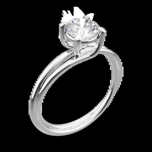 Danhov ZE100 Eleganza Braided Solitaire Engagement Ring