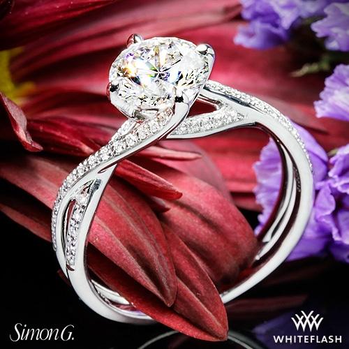 Simon G. MR1394 Fabled Diamond Engagement Ring