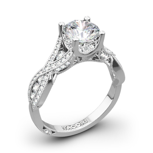 Tacori 2647RD Ribbon Diamond Engagement Ring
