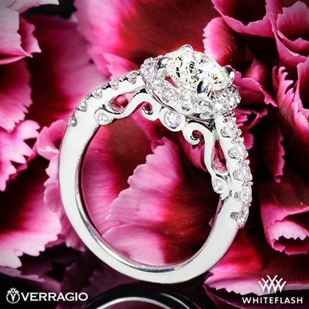 Verragio INS-7003 Half Eternity Halo Diamond Engagement Ring
