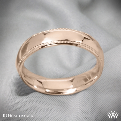 Benchmark Comfort Fit Wedding Ring with Milgrain