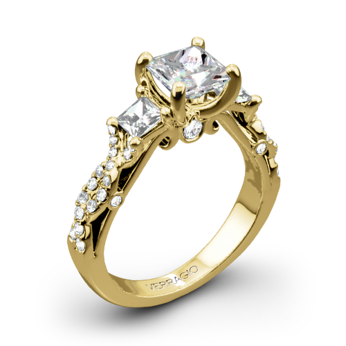 Verragio INS-7055P Twisted Shank Three Stone Engagement Ring for Princess