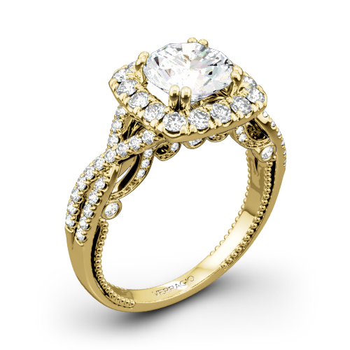Verragio Insignia INS-7086CU Halo Diamond Engagement Ring