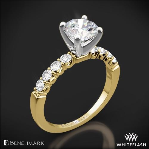 Benchmark CSPA4 Crescent Diamond Engagement Ring