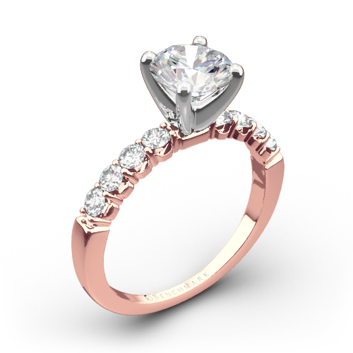 Benchmark CSP4 Crescent Diamond Engagement Ring