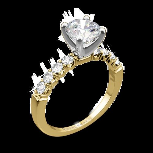 Benchmark CSP4 Crescent Diamond Engagement Ring