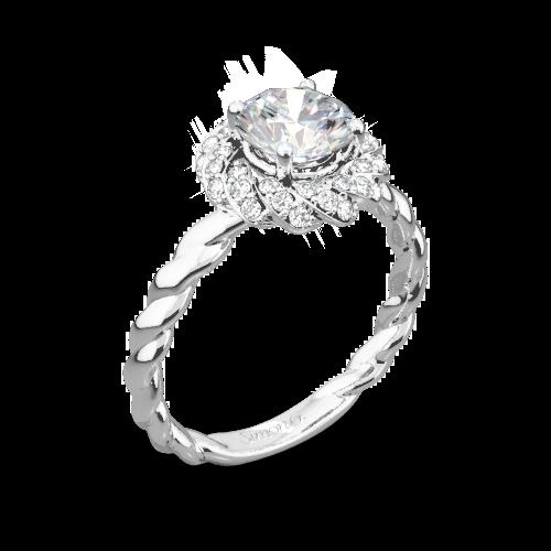 bfe956b7e Simon G. LR1133 Classic Romance Halo Diamond Engagement Ring ...