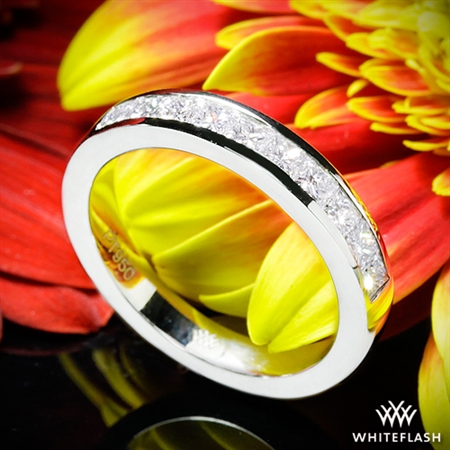 Princess Channel-Set Diamond Wedding Ring
