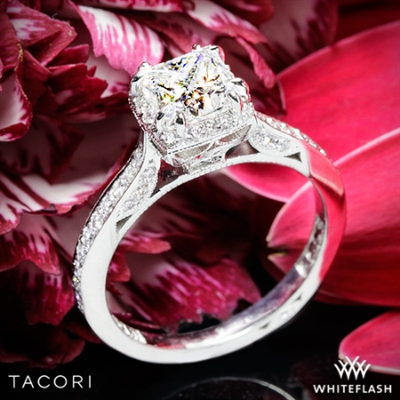 Tacori 2620PRSM Dantela Crown Diamond Engagement Ring for Princess
