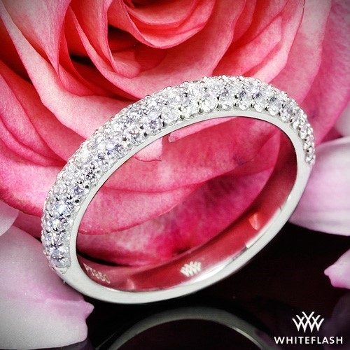 Rounded Pave Diamond Wedding Ring