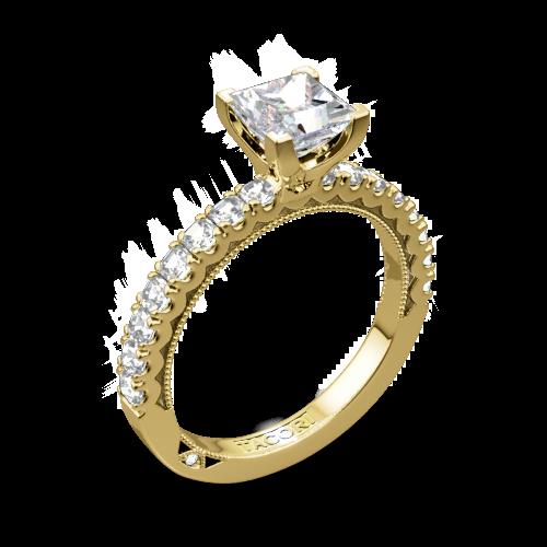 Tacori 32-2PR Clean Crescent Diamond Engagement Ring for Princess