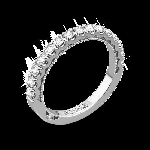 tacori 33 25 clean crescent french cut diamond wedding ring - Tacori Wedding Rings
