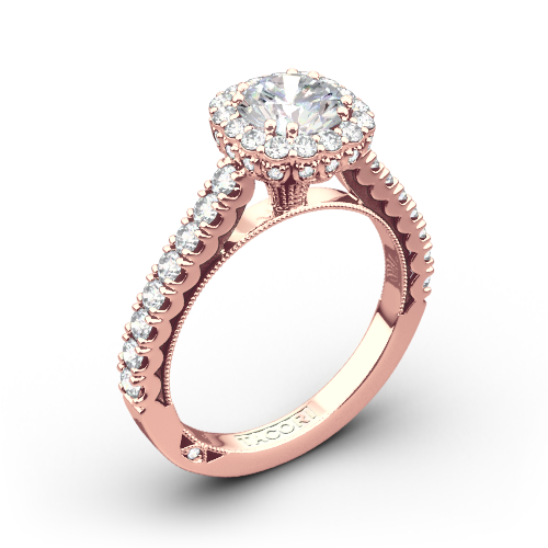 Tacori 37-2CU Full Bloom Cushion Halo Diamond Engagement Ring
