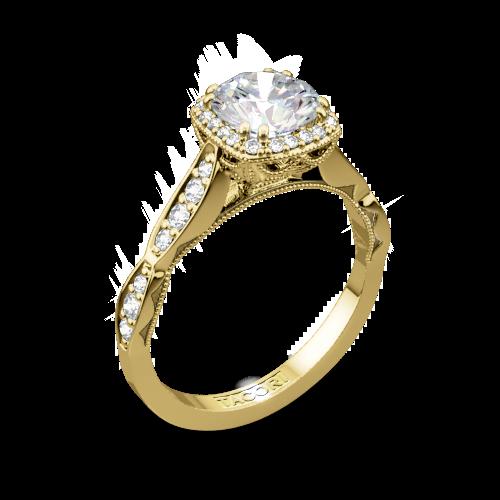 Tacori 39-2CU Sculpted Crescent Diamond Engagement Ring