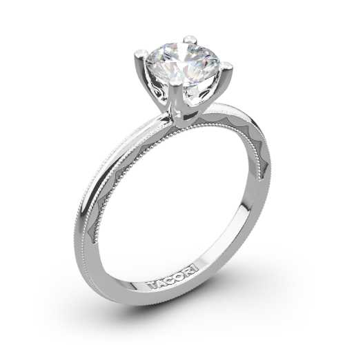 Tacori 40 15RD Sculpted Crescent Millgrain Solitaire Engagement Ring
