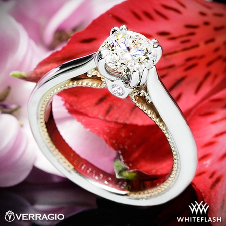 Verragio ENG-0418R Two-Tone Couture Solitaire Engagement Ring