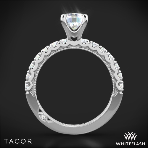 Tacori 33 2 Rd Clean Crescent Half Eternity Diamond Engagement Ring