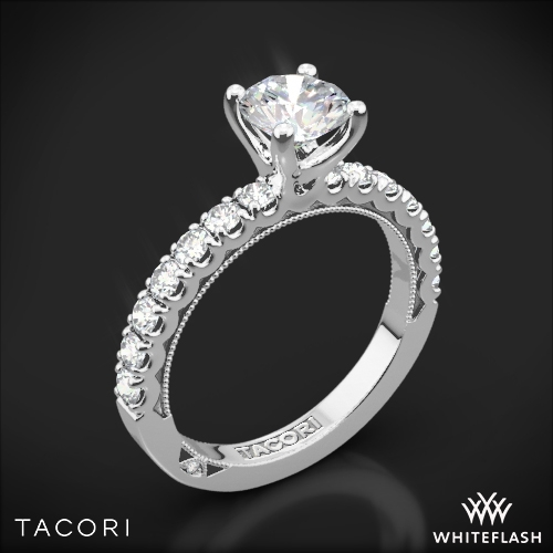Tacori 33 2 RD Clean Crescent Half Eternity Diamond Engagement