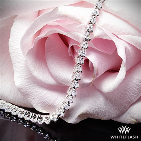 Three-Prong Diamond Tennis Bracelet