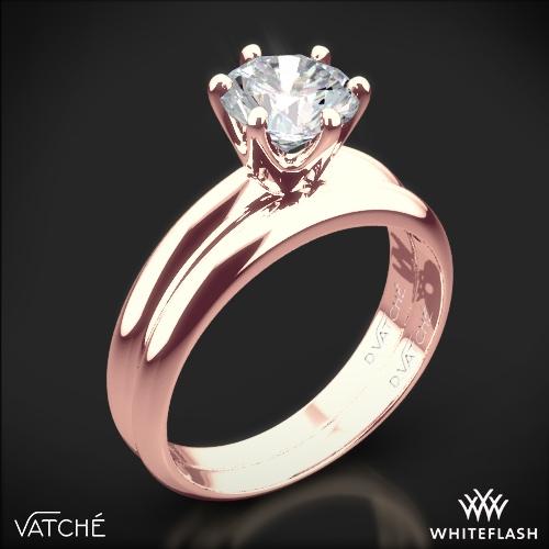Vatche U-113 6-Prong Solitaire Wedding Set