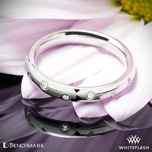 Benchmark Scattered Diamond Wedding Ring
