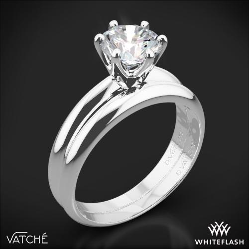 Black Gold Wedding Sets 390   Vatche 6 Prong Solitaire Wedding Set 2825