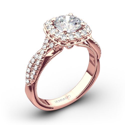 Verragio Renaissance 918CU Halo Diamond Engagement Ring