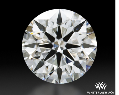 0.61 ct F VS2 A CUT ABOVE® Hearts and Arrows Super Ideal Round Cut Loose Diamond
