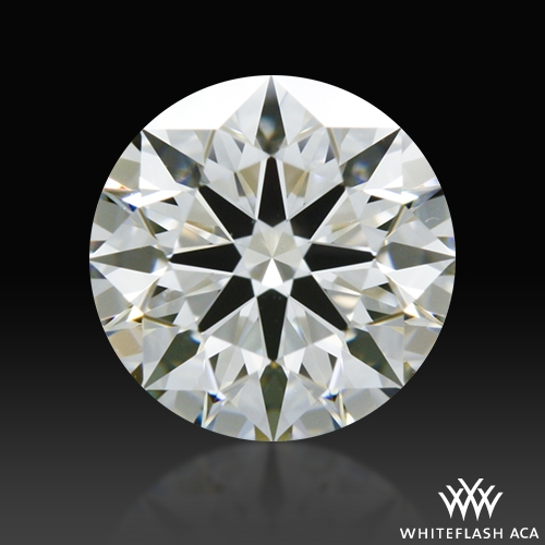 0.664 ct H VVS1 A CUT ABOVE® Hearts and Arrows Super Ideal Round Cut Loose Diamond