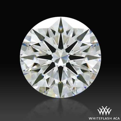 0.858 ct H SI2 A CUT ABOVE® Hearts and Arrows Super Ideal Round Cut Loose Diamond