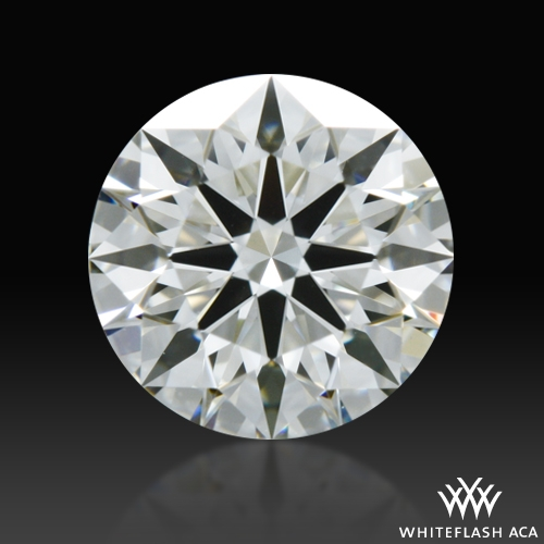 0.588 ct H VS1 A CUT ABOVE® Hearts and Arrows Super Ideal Round Cut Loose Diamond