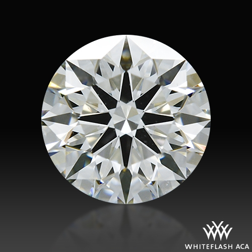 0.726 ct H VS1 A CUT ABOVE® Hearts and Arrows Super Ideal Round Cut Loose Diamond