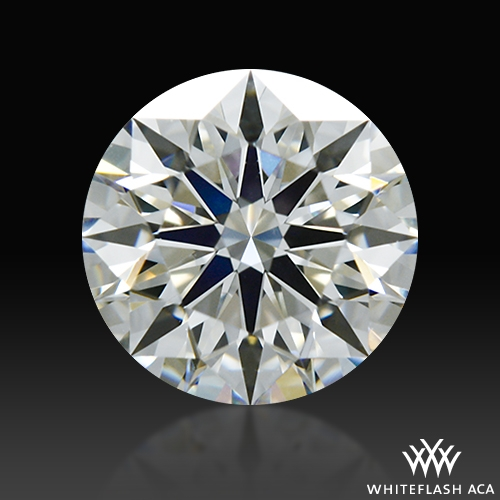 0.746 ct H VS1 A CUT ABOVE® Hearts and Arrows Super Ideal Round Cut Loose Diamond