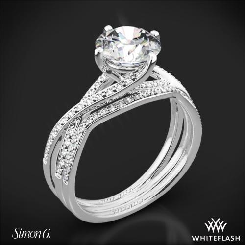 Simon G. MR1394 Fabled Diamond Wedding Set
