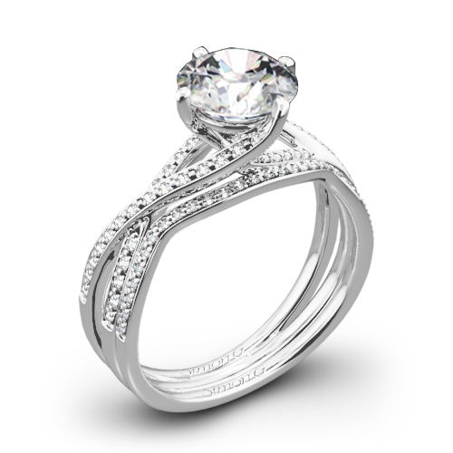 Simon G. MR1394 Fabled Diamond Wedding Set