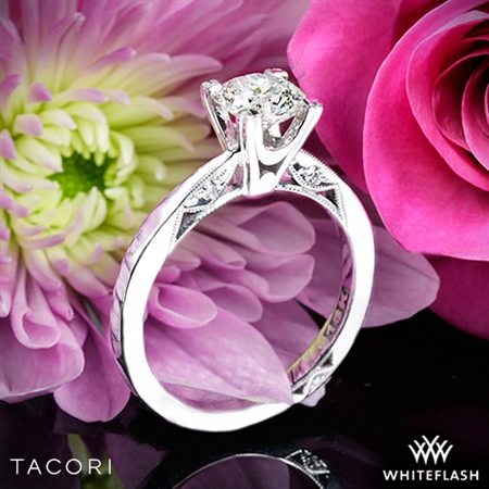 Tacori 2584RD Simply Tacori Flat-Edge Solitaire Engagement Ring