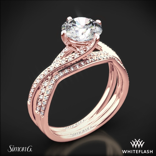 Simon G Mr1394 Fabled Diamond Wedding Set 1
