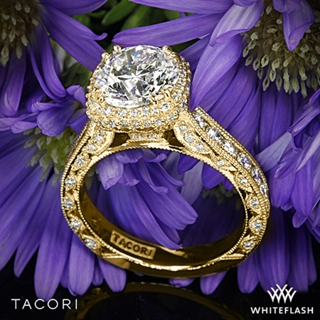 Tacori HT2607RD8 RoyalT Cushion-Style Bloom Diamond Engagement Ring