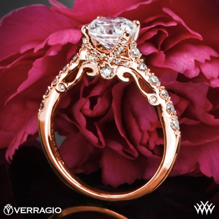 Verragio INS-7054 X-Prong Pave Diamond Engagement Ring
