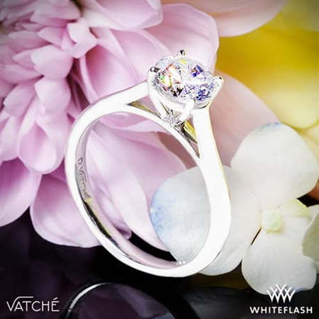 Vatche U-100 Traditional Round Solitaire Engagement Ring