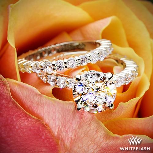 2a1da5552 Diamonds for an Eternity Three Quarter Diamond Wedding Ring Set