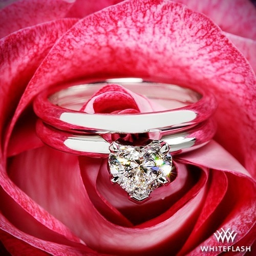 Custom Heart Diamond Wedding Set