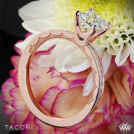 Tacori 45-15PR Sculpted Crescent Floating Crescent Diamond Engagement Ring