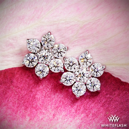 Flower Cluster Diamond Earrings