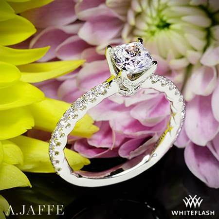 A. Jaffe ME1851Q Art Deco Diamond Engagement Ring