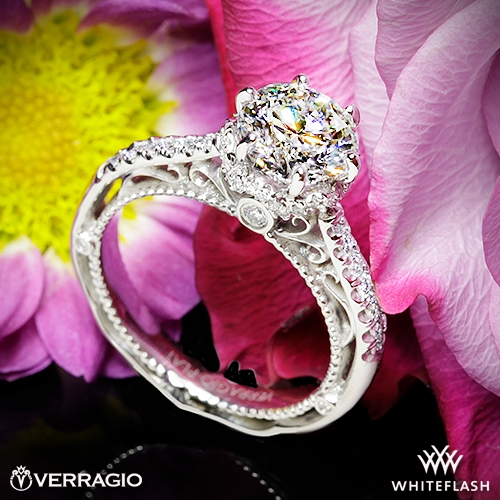 Verragio Venetian Lace AFN-5052-4 Two Tone Diamond Engagement Ring