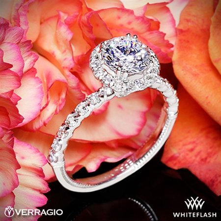 Verragio V-954-R1.8 Renaissance Diamond Halo Engagement Ring