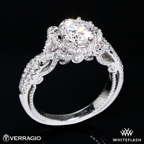b6f4a8667e809 14k White Gold Verragio INS-7087R Insignia Diamond Engagement Ring