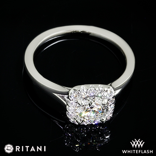 Ritani French-Set Halo Solitaire Engagement Ring | 3807